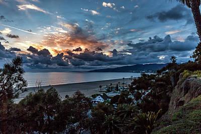 Point Dume Wall Art - Photograph - Malibu Sunset by Gene Parks