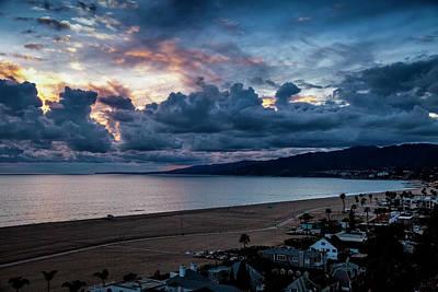 Photograph - Malibu Sunset Glow by Gene Parks