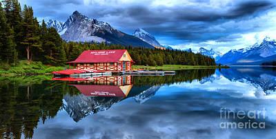 Photograph - Malign Lake Blue Sunset by Adam Jewell