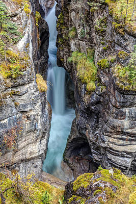 Photograph - Maligne Canyon Cascades by Pierre Leclerc Photography