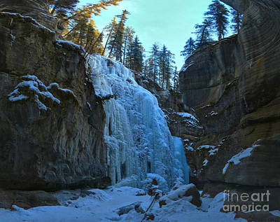 Photograph - Maligne Canyon Ice Climbers Paradise by Adam Jewell