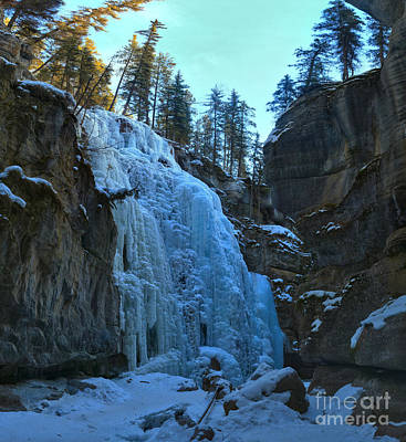 Photograph - Maligne Canyon Ice Flow by Adam Jewell