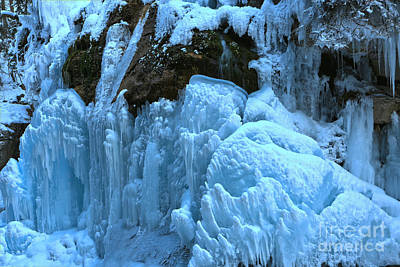 Photograph - Maligne Canyon Ice Formations by Adam Jewell