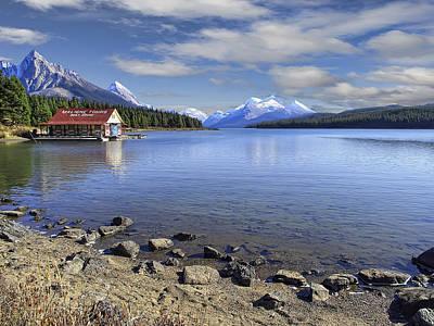 Maligne Lake -- Jasper Alberta Canada Art Print by Daniel Hagerman