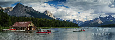 Photograph - Maligne Lake Afternoon by Carrie Cole