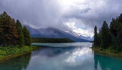 Photograph - Maligne Lake by Heather Vopni