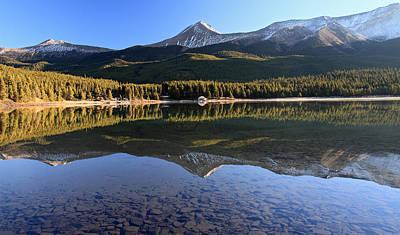 Maligne Lake Jasper National Park Alberta Canada Art Print by Pierre Leclerc Photography