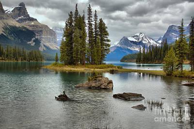 Photograph - Maligne Lake Sacred Island by Adam Jewell