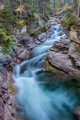 Photograph - Maligne River In Autumn by Pierre Leclerc Photography