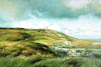 Windy Day Painting - Malin Head Ireland by Conor McGuire