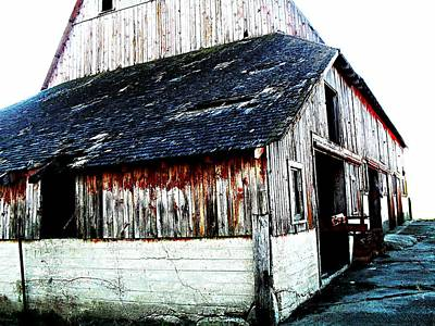 Mallard Barn Art Print by Julie Hamilton