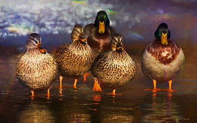 Painting - Mallard Family - Painting by Ericamaxine Price