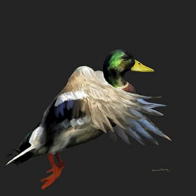 Painting - Mallard Freehand 1 by Ernie Echols