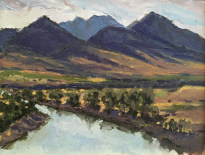 Painting - Mallard's Rest, Yellowstone River, Mt by Les Herman