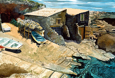 Painting - Mallorcan Coast by Douglas Teller