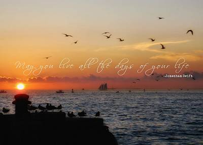 Mallory Square Sunset Quote Art Print by JAMART Photography