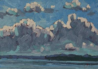 Painting - Mallorytown Landing Cumulus by Phil Chadwick