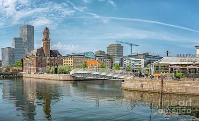 Photograph - Malmo Cityscape Panorama by Antony McAulay