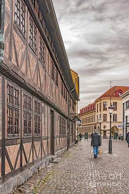 Color Block Photograph - Malmo Old Town Street by Antony McAulay
