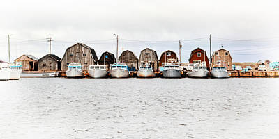 Photograph - Malpeque Harbour Line-up by Carolyn Derstine