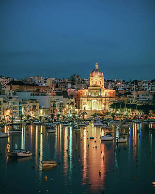 Photograph - Malta Blue Vi by Nisah Cheatham