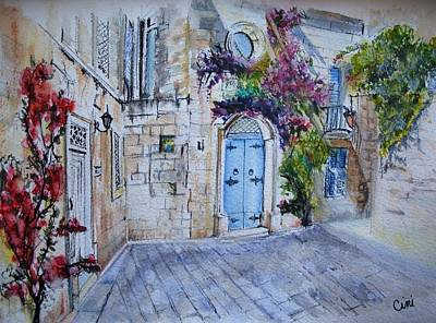 Wall Art - Painting - Malta Courtyard by Lisa Cini