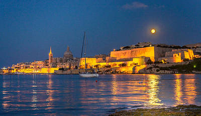 Wall Art - Photograph - Malta Moonrise by Adrian O Brien
