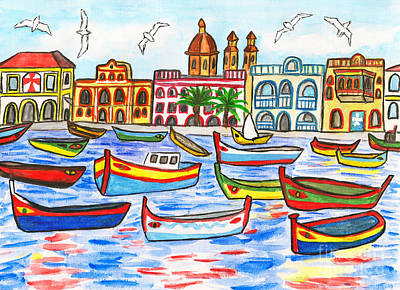 Painting - Malta, Painting by Irina Afonskaya