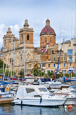 Photograph - Malta - The Church And The Sea by Brenda Kean