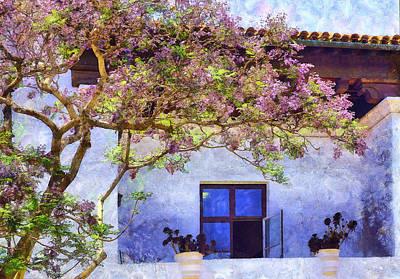 Digital Art - Maltese Balcony In Santa Barbara by Viktor Savchenko