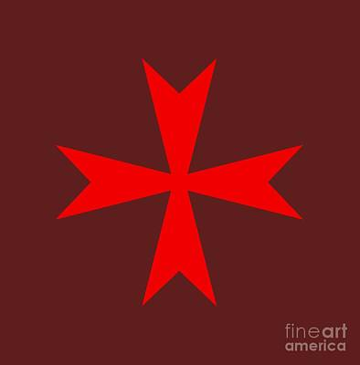 Maltese Cross Variant Original by Frederick Holiday