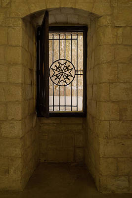 Photograph - Maltese Cross Window - by Georgia Mizuleva