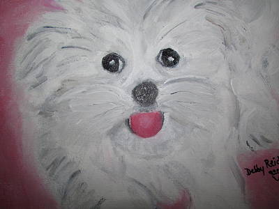 Painting - Maltese by Debby Reid
