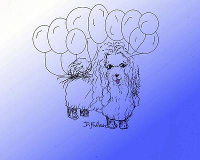 Drawing - Maltese by Denise Fulmer