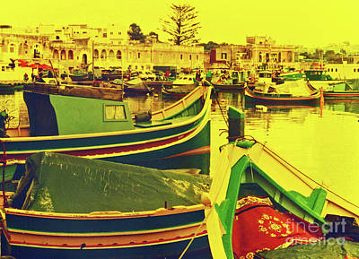 35mm Photograph - Maltese Fishing Village by Elizabeth Hoskinson