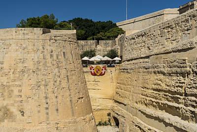 Maltese Photograph - Maltese Knights Legacy - Valletta City Walls Cafe Open For Business by Georgia Mizuleva