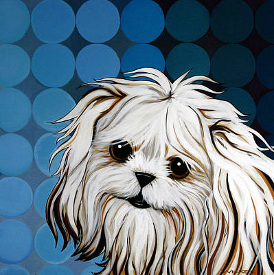 Painting - Maltese Magic by Leanne WILKES