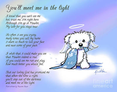 Mixed Media - Maltese Pet Memorial by Kim Niles