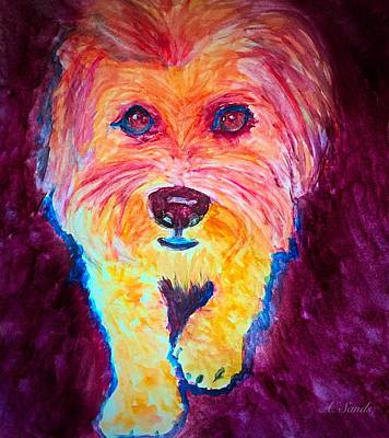Painting - Maltese Pooch by Anne Sands
