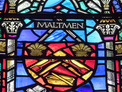 Photograph - Maltmen Stained Glass by Jean Noren