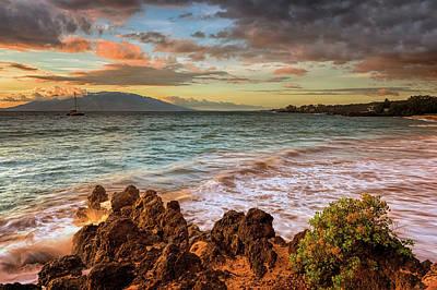 Photograph - Maluaka Beach Twilight by Susan Rissi Tregoning