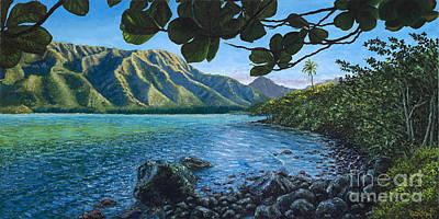 Kahana Painting - Maluhia O Kahana by Pati O'Neal