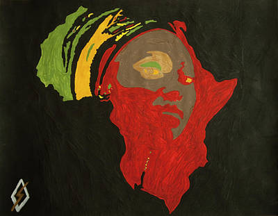 Painting - Mama Africa by Stormm Bradshaw