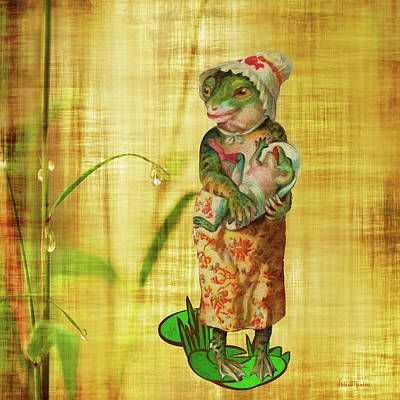 Painting - Mama And Baby Frog - Painted by Ericamaxine Price