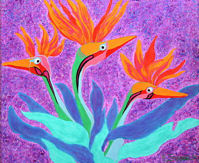 Painting - Mama And Her Chicks By Ken Tesoriere by Lyric Artists