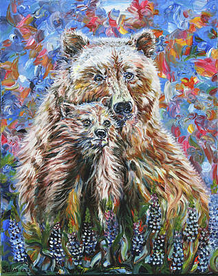 Painting - Mama Bear by Yelena Rubin