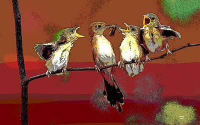 Wood Duck Mixed Media - Mama Bird by Charles Shoup