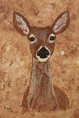 Painting - Mama Doe by Ralph Root