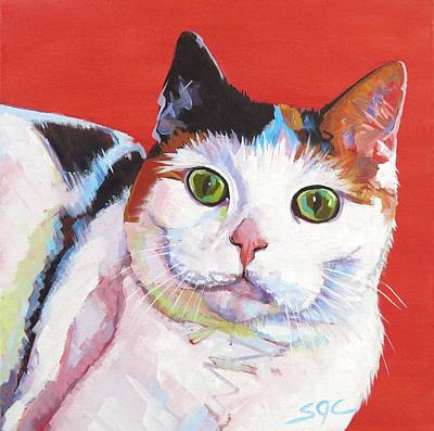 Painting - Mama Kitty by Sarah Gayle Carter