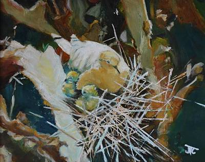 Painting - Mama And Babies by Julie Todd-Cundiff